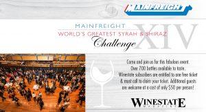 Mainfreight World's Greatest Shiraz Challenge 2019